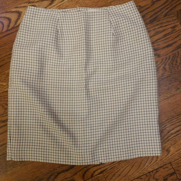 Daily Habit Dresses & Skirts - Checkered business skirt with slit